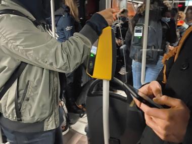 Drukke bus