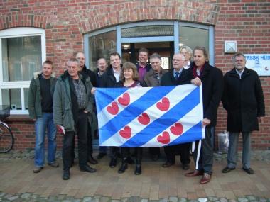 Johannes Kramer sprekt by FNP-susterpartij SSW yn Sleeswyk-Holstein