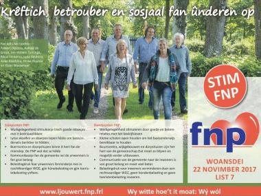 Adfertinsje FNP Ljouwert yn de Huis aan Huis
