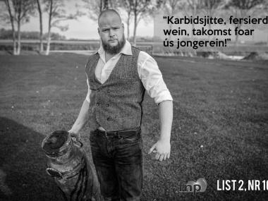 Aant Jelle Soepboer op de boargerskipsdagen ROC Friese Poort Dokkum