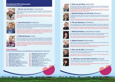 Achtkarspelen kandidaten 19 maart 2014