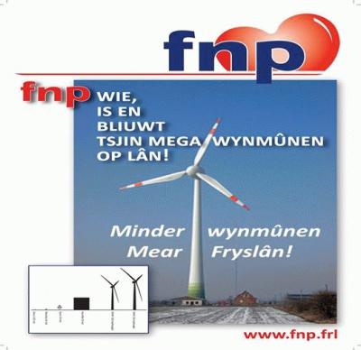FNP is wie en bliuwt tsjin megawynmunen