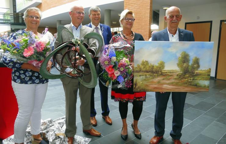180530 Foto Informele afscheidsreceptie van oud wethouders Roelof Bos en Emke Peterson